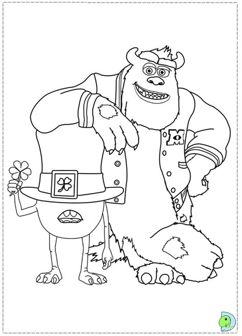 monsters university coloring pages to print monsters university coloring page dinokids org