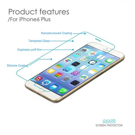Lumee For Iphone 6 Plus Free Tempered Glass Premium tempered glass for iphone 6 plus 5 5