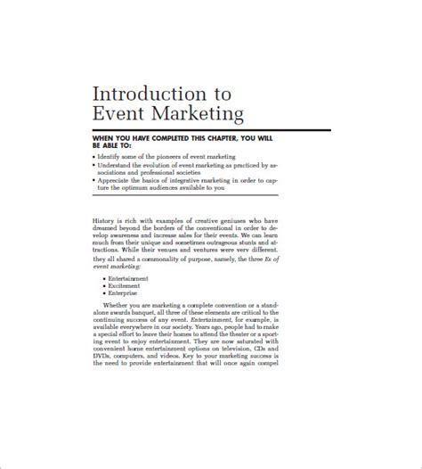 event marketing plan template  sample