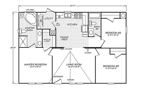 palm harbor homes floor plans view model 28403d floor plan for a 1066 sq ft palm harbor manufactured home in tomball