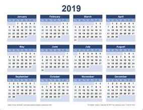Calendar 2018 And 2019 Printable 2019 Calendar Printable 2018 Calendar Printable