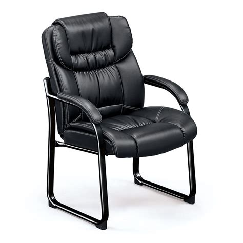 Leather Desk Chair With Wheels Design Ideas Black Leather Office Chair Without Wheels Chairs Seating