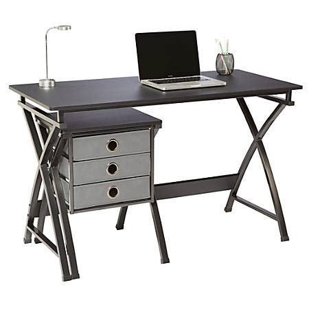 office depot desk brenton studio x cross desk and file set black by office