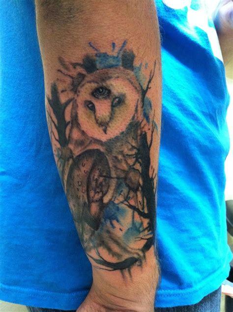 aquarell eule tattoo tattooimages biz