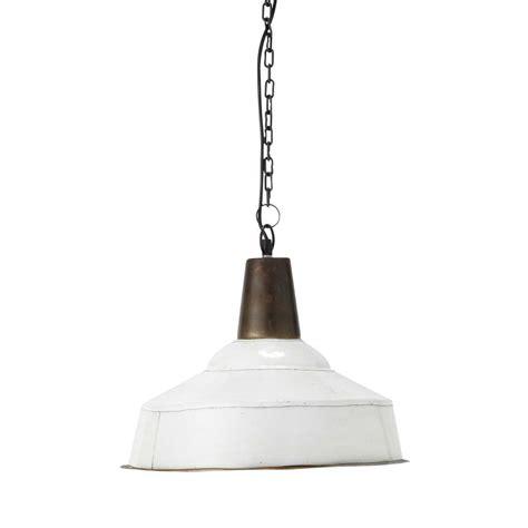 White Metal Pendant Light Adonis Metal Pendant L In White D 43cm Maisons Du Monde