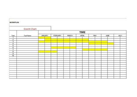 Gantt Chart Word Template by 36 Free Gantt Chart Templates Excel Powerpoint Word