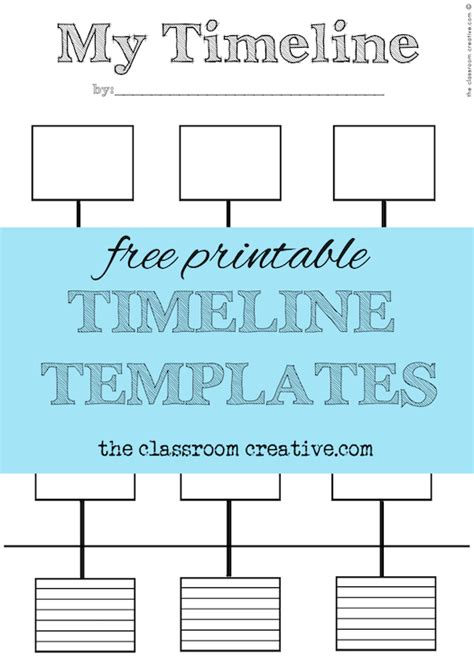 timeline template for pages free printable timeline templates theclassroomcreative