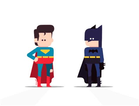 game design vs animation batman vs superman gifs on behance motion graphics