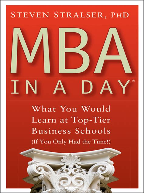 Tcs Tier 1 Mba Colleges by Mba In A Day New York Library Overdrive