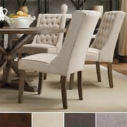Dining Room Wing Chairs 1cheap Inspire Q Evelyn Tufted Wingback Hostess Chairs