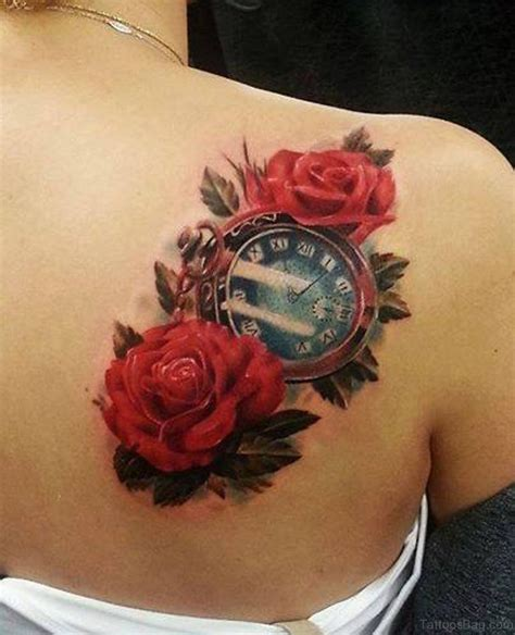 tattoo de rose 41 fanciful clock tattoos on back