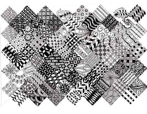 easy zentangle patterns printable zentangle pattern quilt 1 by thelonelymaiden on deviantart