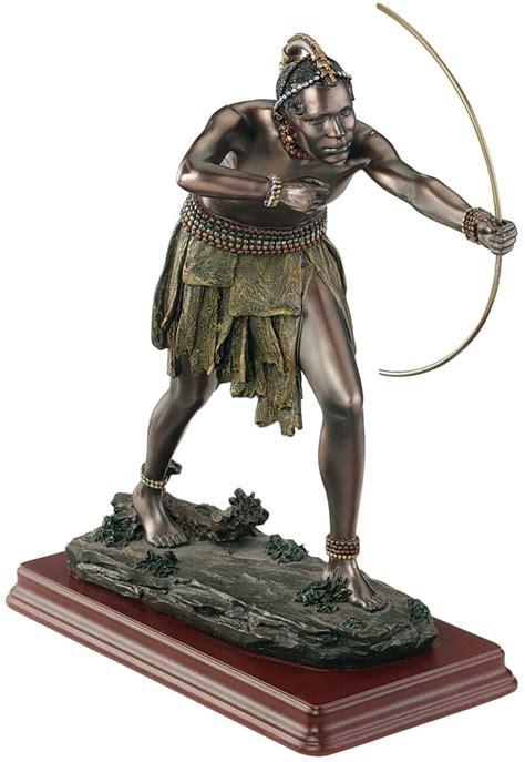 classical bronze statues primitive african tribal life african tribal warrior sculpture statue