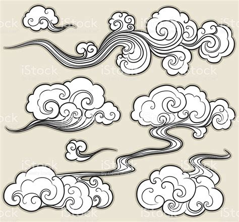 oriental cloud stock vector art amp more images of arts