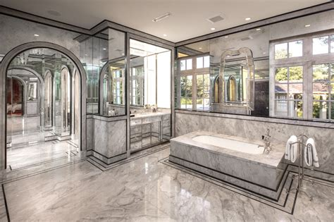 Mirrored bathrooms contemporary bathroom thompson custom homes