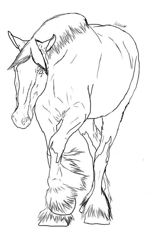 coloring pages of clydesdale horses deviantart and clydesdale on