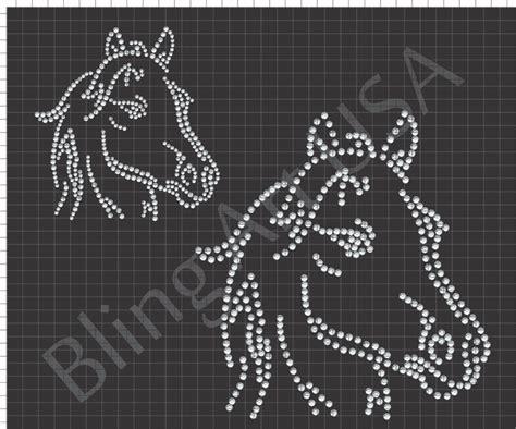 horse rhinestone download file equestrian template pattern