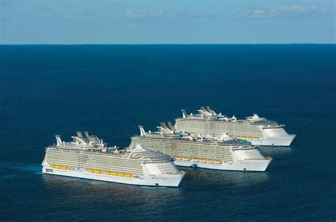 royal caribbeans newest ship royal caribbean largest ships meet at sea cruise