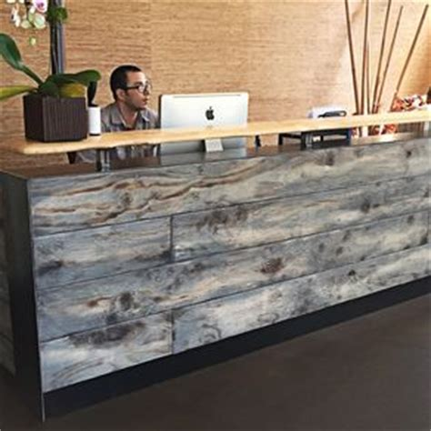 Live Edge Desk Reception Desks For Offices Custom Reception Counters