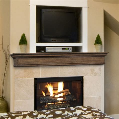 traditional fireplace mantels shop pearl mantels savannah 72 in w h x 9 in d taos
