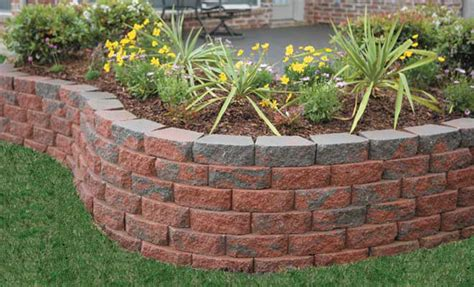 Garden Wall Blocks Poured Concrete Retaining Wall Architectural Design
