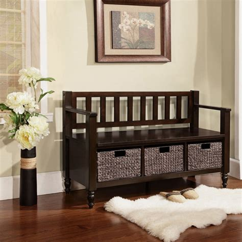 black bench with baskets black entryway bench with baskets stabbedinback foyer