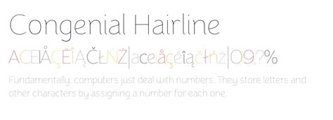 typography hairline congenial hairline fonts