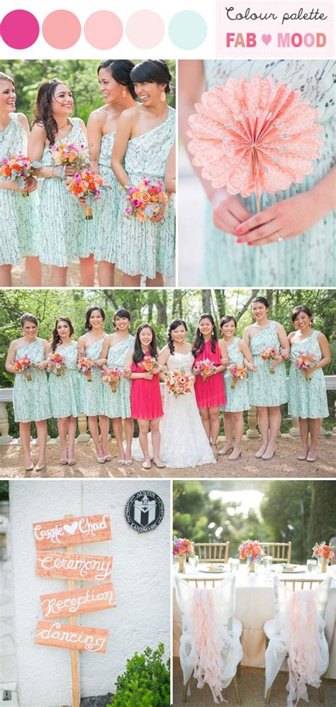 Mint And Coral Wedding Favors