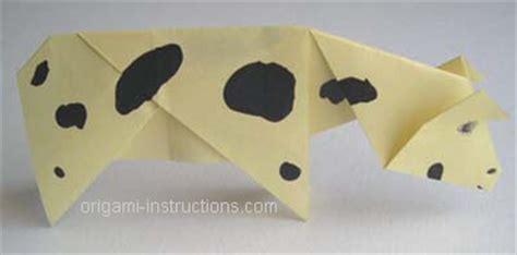 How To Make An Origami Cow - origami how to make an origami cow how to