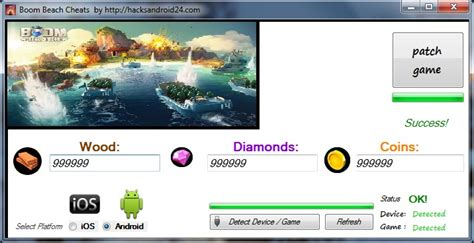 boom beach hack unlimited diamonds coins and woods boom beach cheat tool 2018 download