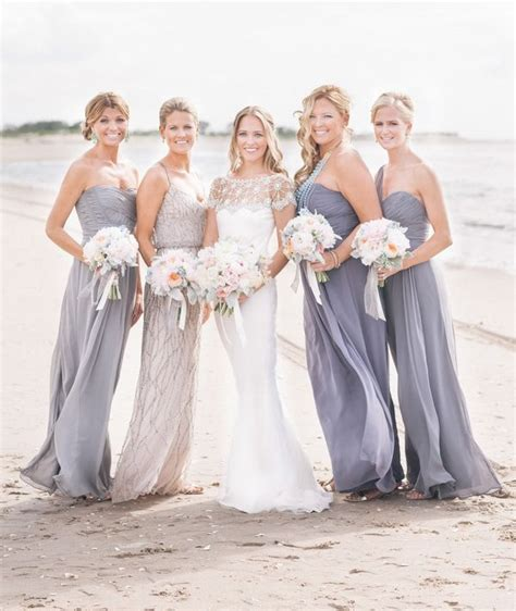 5 Bridesmaid Dresses For And Summer by Fresh Ideas For Nautical Summer Style Weddings 2014 Grey