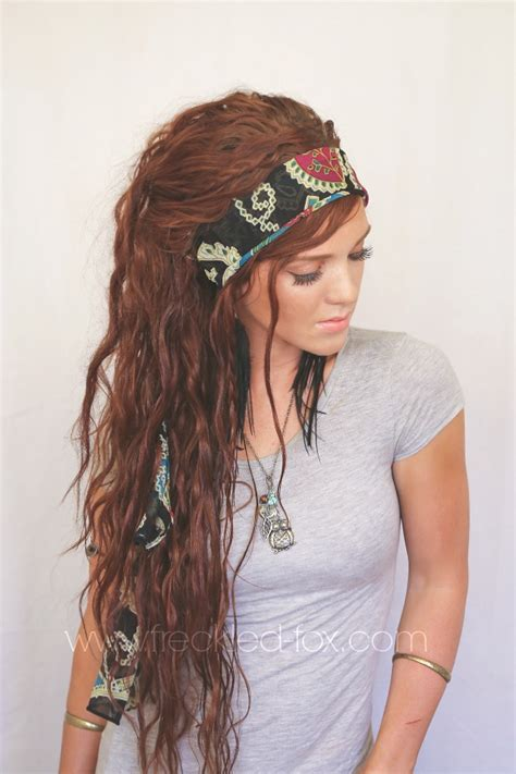 Gypsy Style Hairstyles | the freckled fox festival hair week bohemian gypsy style