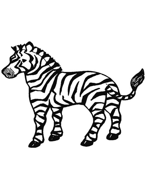 printable coloring page of a zebra free printable zebra coloring pages for kids