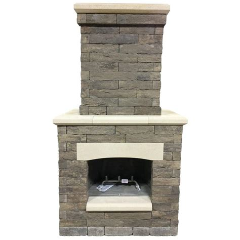 Outdoor Fireplaces Home Depot by Oldcastle Avondale 53 In X 33 5 In X 99 5 In