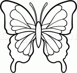 How to draw a black butterfly step by step bugs animals free
