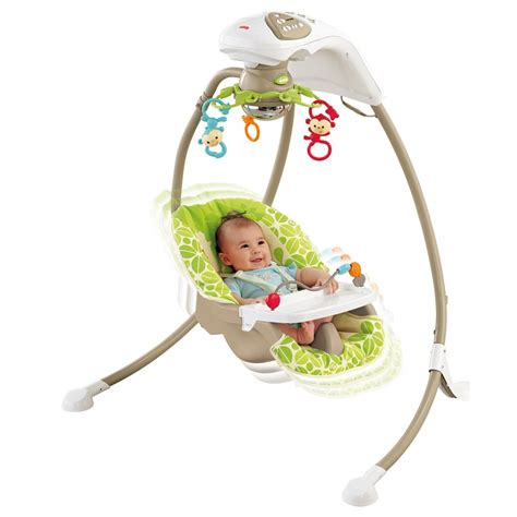 fish baby swing fisher price rainforest friends cradle n swing