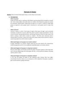 Experiment Report Template lab report osmosis in grapes