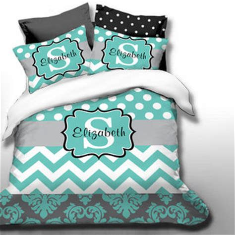 custom chevron monogrammed duvet bedding from slive88 on etsy