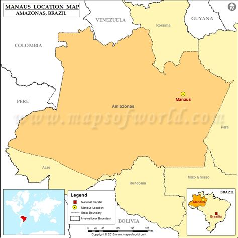 map of manaus where is manaus location of manaus in brazil map