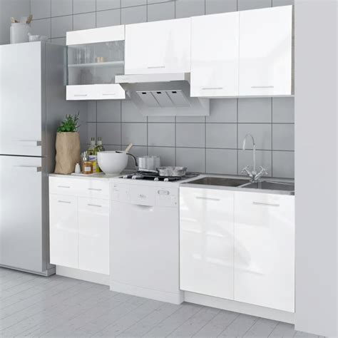 white high gloss kitchen cabinets vidaxl co uk 5 pcs high gloss white kitchen cabinet unit