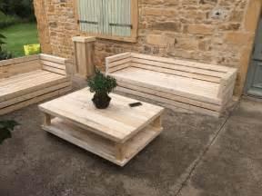 salon de jardin ambiance palette meubles et rangements