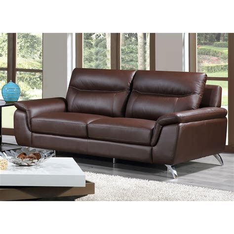 Leather Sofas Chicago Cortesi Home Chicago Leather Sofa Reviews Wayfair