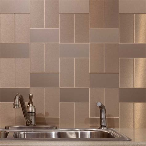 metal kitchen backsplash tiles popular metal tile backsplash the homy design