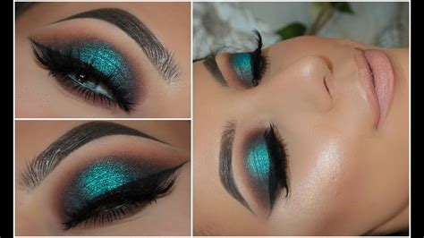 color pop makeup halo teal pop of colour smokey eye amys makeup box