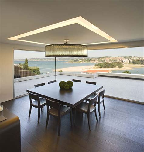 Folded Dining Table Modern Glass House Design In Cliff Side Of Galicia Spain