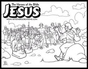 Sermon on the mount coloring pages