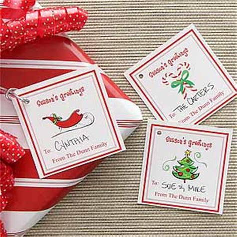personalized christmas gifts personalized christmas gift tags season s greetings