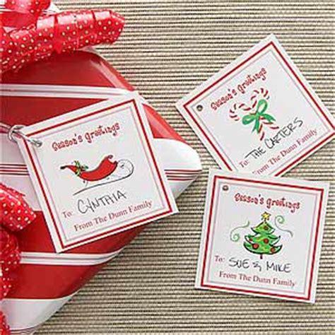 personalized christmas gift tags season s greetings