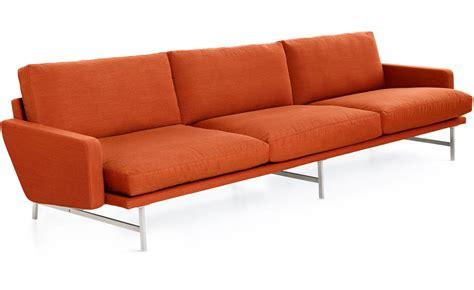 3 seat sectional sofa lissoni pl113 3 seat sofa hivemodern com