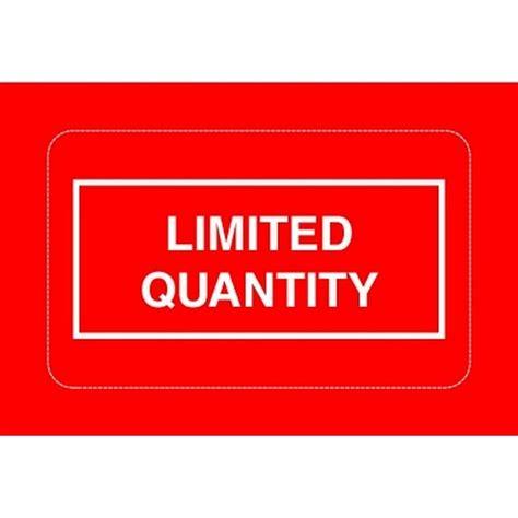 printable limited quantity label 2 1 4 quot x 1 3 8 quot limited quantity labels 500 per roll